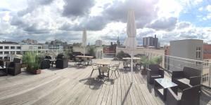 Dachterrasse SkyLiveClub - geraucht wird draußen... ;)