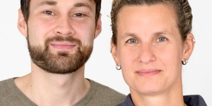 Sebastian Stipp und Anne Grießbach-Baerns, die Ansprechpersonen für LSBTI der Polizei Berlin